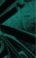 Бархат стрейч зеленый
