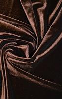 Бархат стрейч т. коричневый