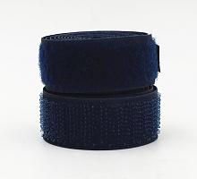 Лента контактная (липучка) темно-синия, 25 мм