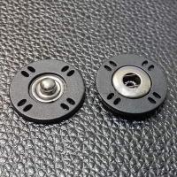 Кнопка пришивная пластиковая черная, 18 мм