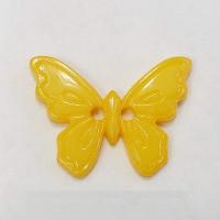 Пуговица на прокол, желтая бабочка 23 мм