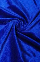Бархат стрейч синий