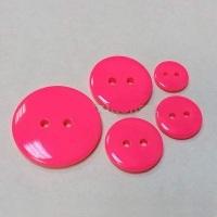 Пуговица пластиковая на прокол ярко-розовый