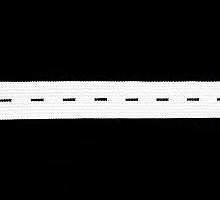 Резинка перфорированная белая, 20 мм