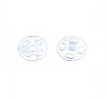 Кнопки пришивные пластик 7 мм., 6 шт. прозрачные