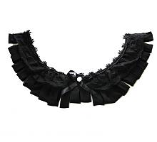 Мысик с атласными лентами черный, 26 х 23 см