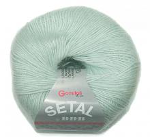 Пряжа Сетал (Setal), цвет 0489 мятный