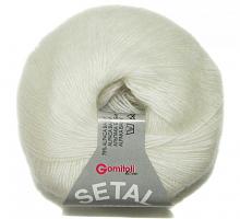Пряжа Сетал (Setal), цвет 0100 белый