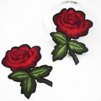 Термоаппликация роза красная 50х75мм