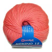 Пряжа Мерино-12 № 8777 коралл