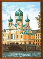 """Рисунок на канве 37х49см арт.917 """"Церковь Иссидора Юрьевского"""""""