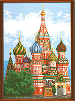 """Рисунок на канве 37х49см арт.920 """"Храм Василия Блаженного"""""""