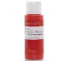 Краска акриловая ARTISTE красный