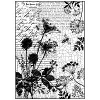 """Бумага рисовая мини формат, """"Письма и пчелы"""""""