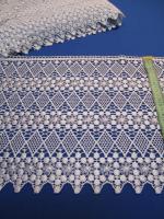 Кружево вязанное голубое