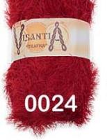 Visantia «TRAFKA» 100 % полиэстер  № 0024 темно-красный