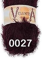 Visantia «TRAFKA» 100 % полиэстер  № 0027 темно бордовый
