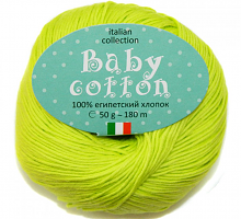 Пряжа Baby Cotton (Беби Котон), цвет 38 лайм