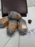 Пряжа Як-силк №276 светло-серый ( перламутр)