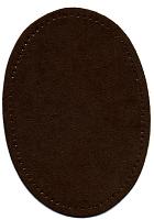 Заплатка термоклеевая из искусственной замша, темно-коричневая цена за пару