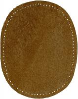 Заплатка пришивная из искусственной кожи, цвет табачный цена за пару