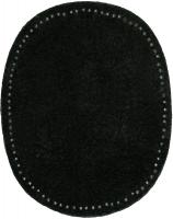 Заплатка пришивная из искусственной кожа, цвет черная цена за пару