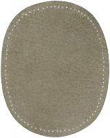 Заплатка пришивная из искусственной кожа, цвет серая цена за пару