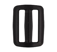 Двухщелевая черная пряжка 40 мм