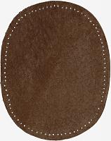 Заплатка термоклеевая из искусственной замша, коричневая цена за пару
