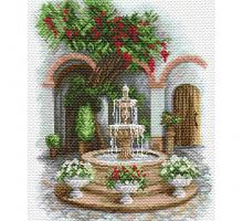 "Рисунок на канве 37х49см арт.1690 ""У прохладного фонтана"""