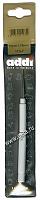 Крючок вязальный металлический экстратонкий с ручкой, №1.75, 13 см