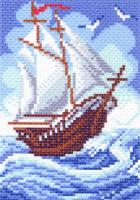 """Канва с рисунком 16х20см Матренин посад """"Кораблик"""""""