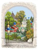 """Рисунок на канве 37х49см арт.1644 """"Псково-Печерская лавра"""""""