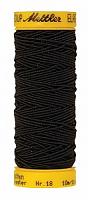 Нить-резинка ELASTIC METTLER , цвет 4000 черный, 10 м