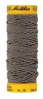 Нить-резинка ELASTIC METTLER , цвет 0878 серый, 10 м