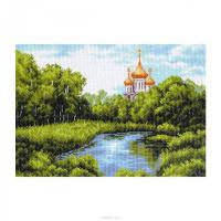 """Рисунок на канве 37х49см арт.1354 """"Тихая заводь"""""""