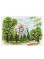 """Рисунок на канве 37х49см арт.1638 """"Собор Александра Невского в Краснодаре"""""""