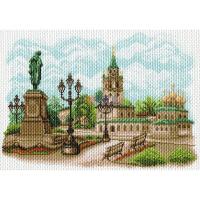 """Рисунок на канве 37х49см арт.1573 """"Страстной монастырь"""""""
