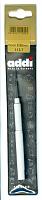Крючок вязальный металлический экстратонкий с ручкой, №0.5, 13 см