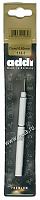 Крючок вязальный металлический экстратонкий с ручкой, №0,6, 13 см