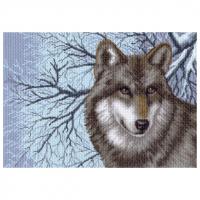 "Рисунок на канве 37х49см арт.1538 ""Волк"""
