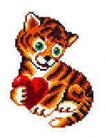 """Канва с рисунком 16х20см Матренин посад, """"Тигр"""""""