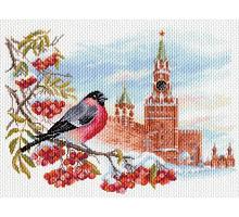 """Рисунок на канве 37х49см арт.1698 """"Московская зима"""""""