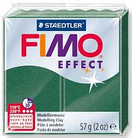 Полимерная глина FIMO «EFFECT» цвет зеленый опал, металлик