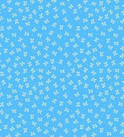 Поликотон голубой с бантиками