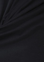 Микровельвет стрейч черно-синий