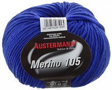 Пряжа Austermann-Merino-105-0360 ярко-синий