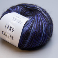 Пряжа CELINE, цвет 0006 сине-черный