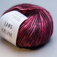 Пряжа CELINE, цвет 0065 розово-черный