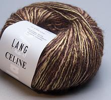 Пряжа CELINE, цвет 0067 золото-черный